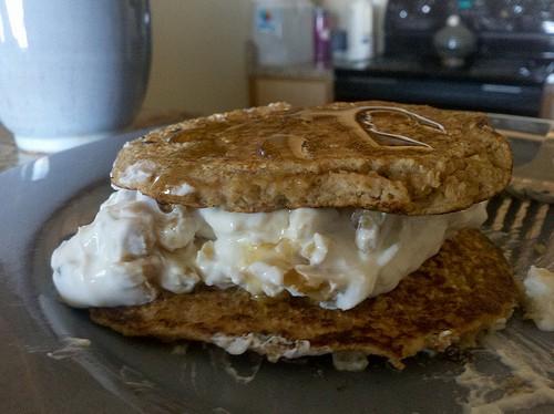 Cinnamon Pancake Sandwiches