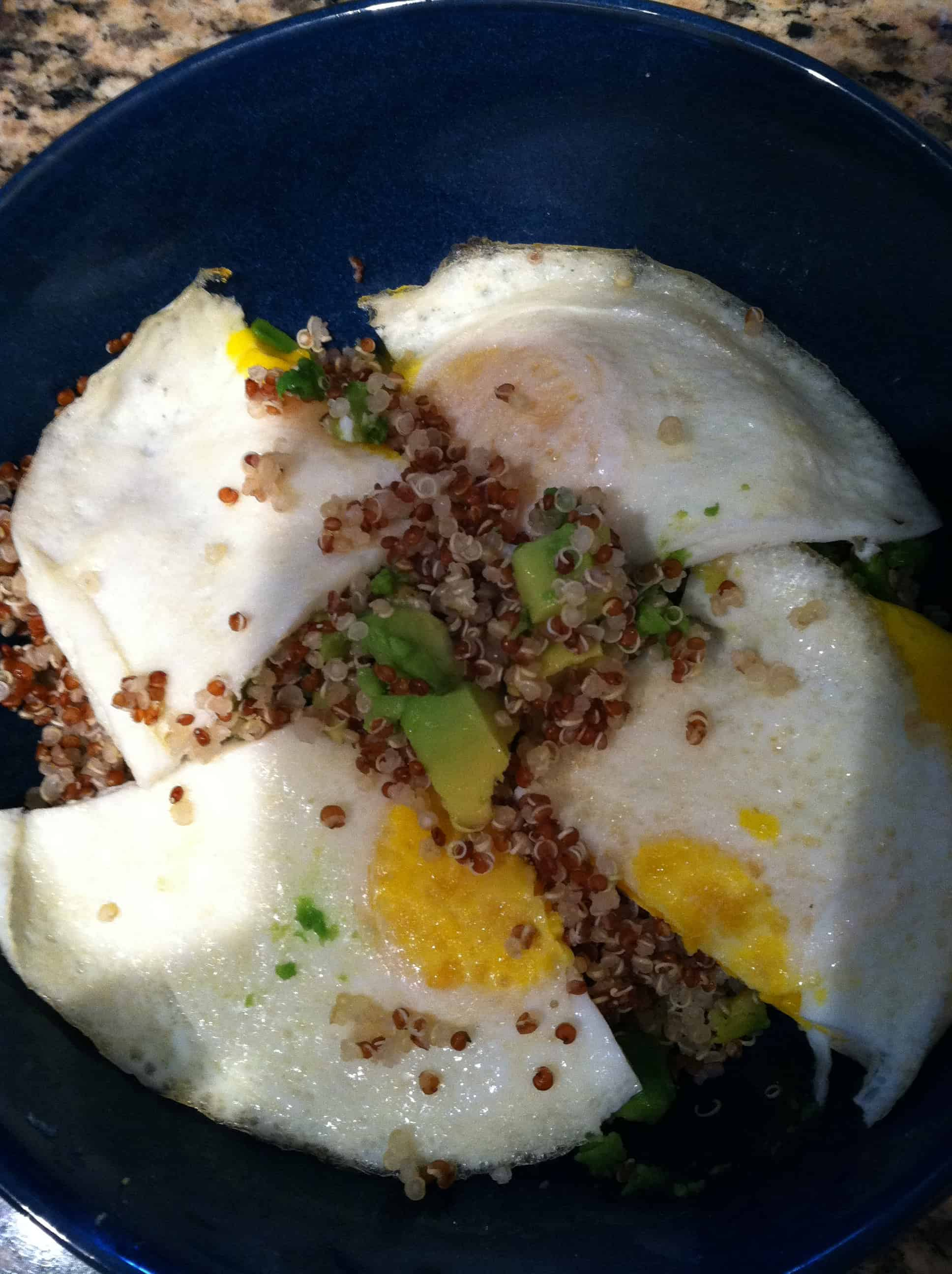 Second Breakfast: Quick Quinoa and Eggs
