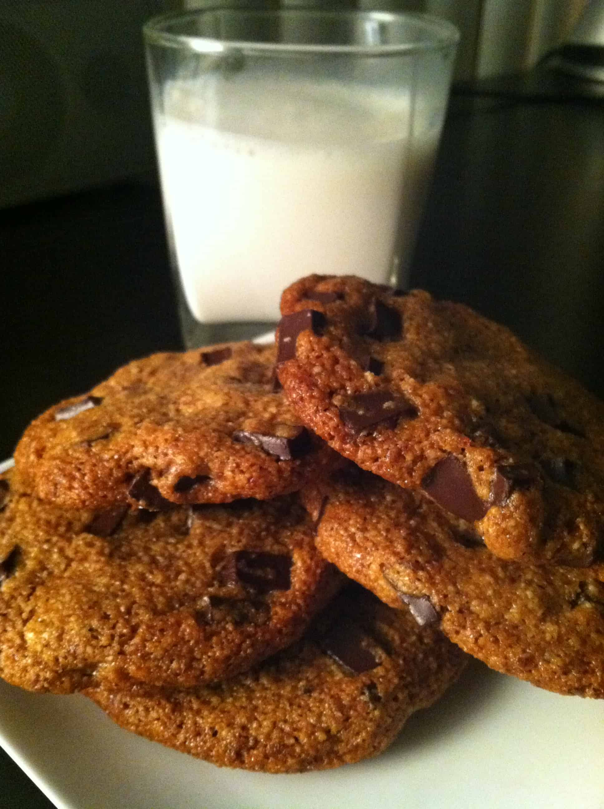 The Power of Chocolate Chip Cookies: gluten-free, dairy-free, vegan recipe