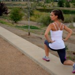 Lunges - keep thigh parallel to the ground without knee bending over your toes.