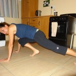 Anywhere workout challenge - mountain climbers. From a plank position, while engaging your core, and switch legs back and forth as quickly as possible