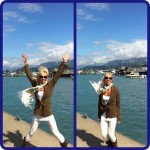 How do you keep warm in Alaska on a breezy day by the water? With today's anywhere fitness challenge- 50 jumping jacks