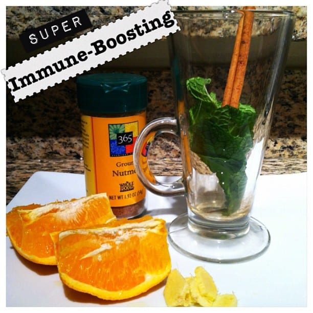 Immune-Boosting Easy Herb and Spice Elixer
