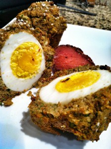 An Ode to Scotch Eggs: Savory Egg-in-a-Basket Breakfast Muffins (gluten-free)