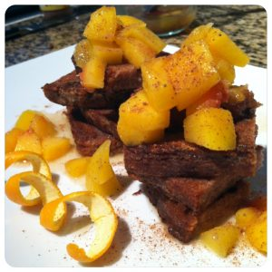 Healthy Holiday Spiced French Toast with Homemade Orange Syrup