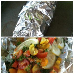 Wrap fish in foil