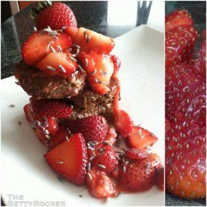 strawberry vegan french toast