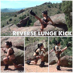 reverse lunge kick