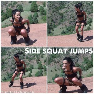 side squat jumps