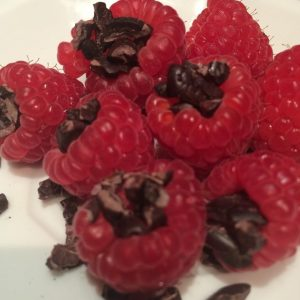cacao raspberries