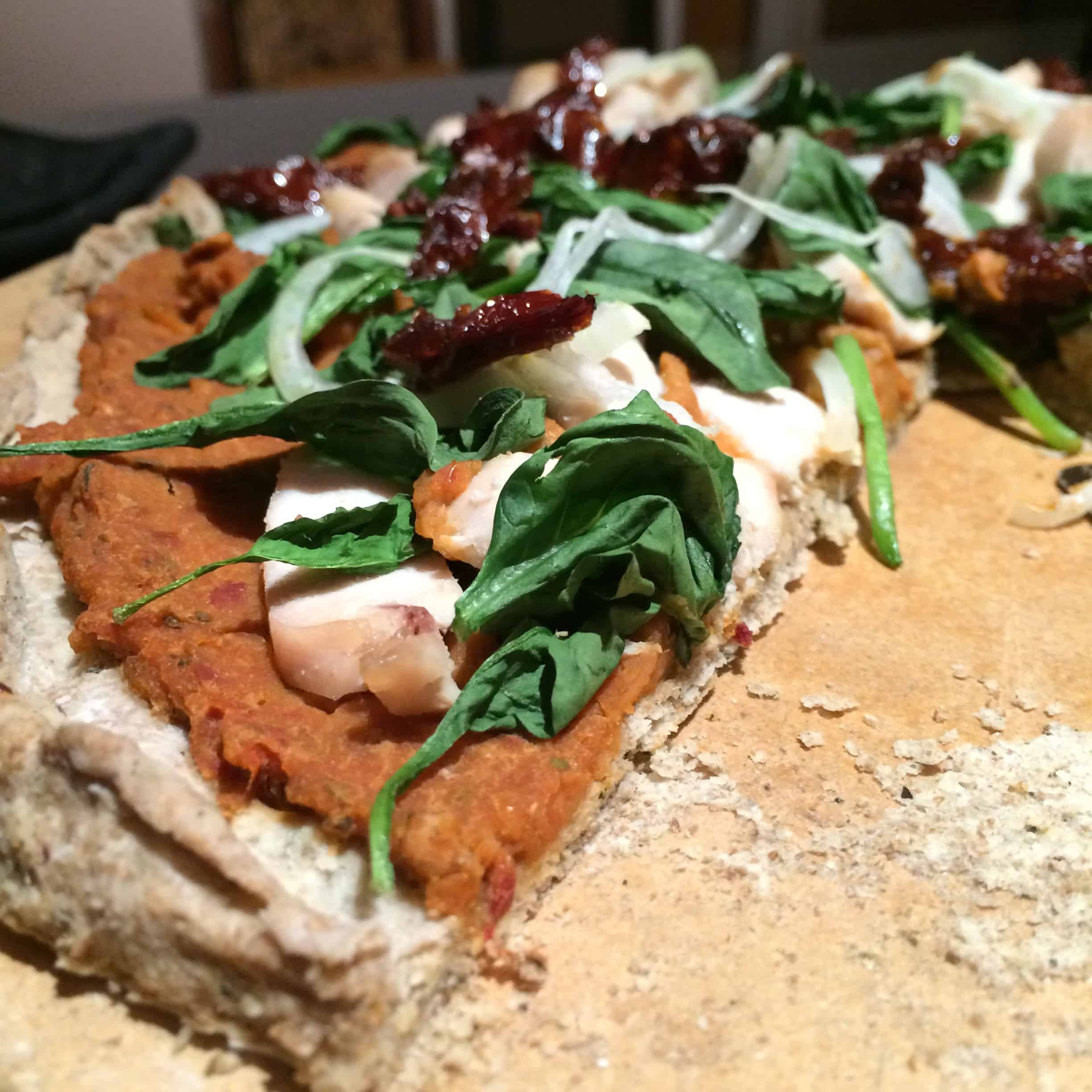 Sundried Tomato Pizza (Paleo, Vegan, Nut-Free Crust)