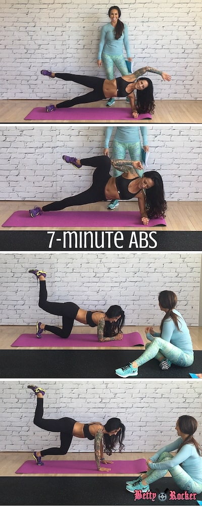 7-minute abs pinterest
