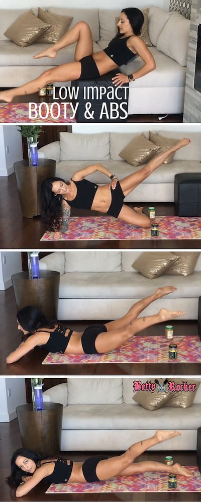 low impact booty and abs pinterest