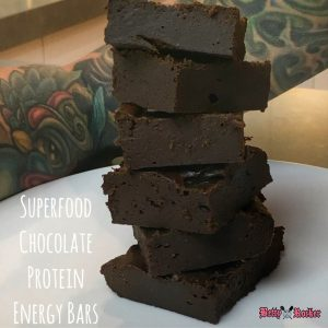 chocolate protein energy bars cover