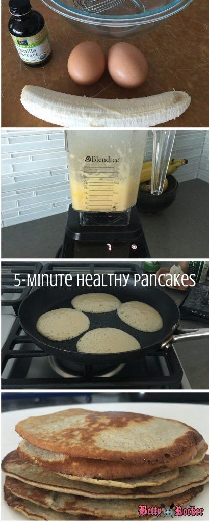 5 min healthy pancakes