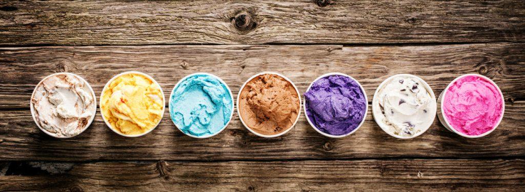 ice cream on wood horizontal