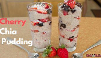 Cherry Vanilla Chia Pudding (gluten-free, dairy-free)